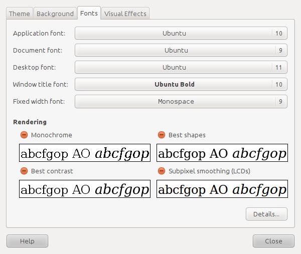 Font Setup in Ubuntu 10 10